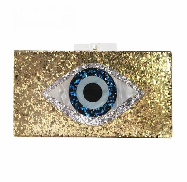 Acrylic Evil Eye Clutch