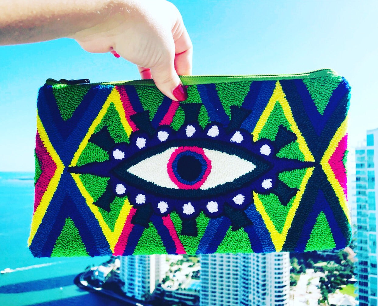Colorful Evil Eye Clutch