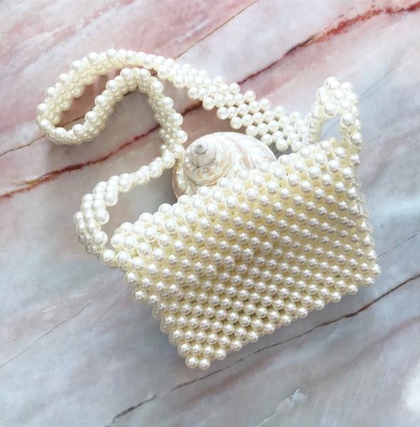 Beaded Pearl Purse