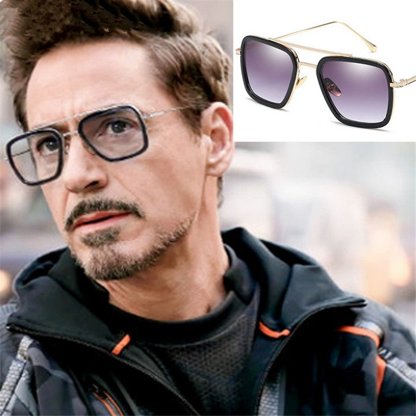 ccd125bcc2 Avengers Tony Stark Iron Man Goggles Retro Windproof Steam Punk Sunglasses  UV400