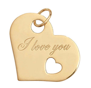 9ct Gold I Love You Pendant