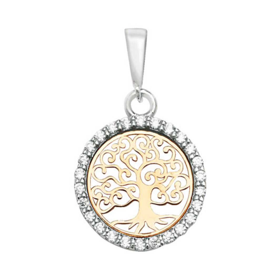 9ct Gold Two Tone Tree of Life Pendant