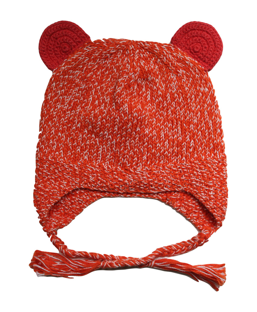 Brave Bear Beanie Red/Orange