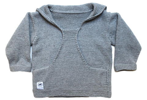 Oversized knitted sweater - Grey Fleck