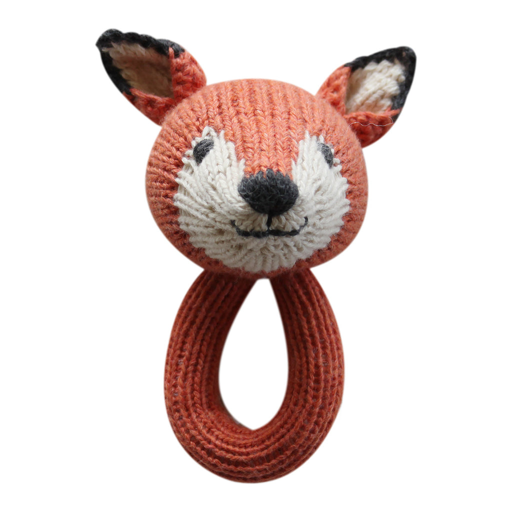 Knitted Rattle Felix the Fox