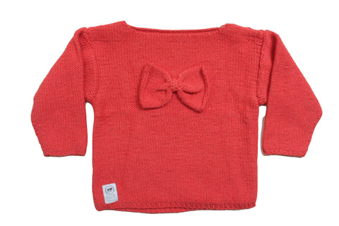 Front of House Bow Jumper Red