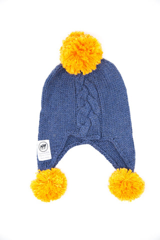 Moorland Pony Beanie - Orange Crest