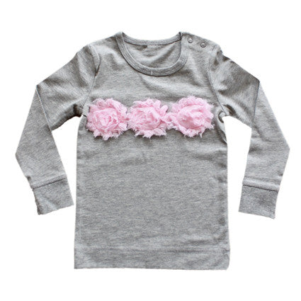 Marshmallow Gray Male Long Sleeved Top