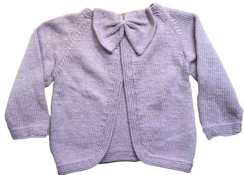 Poppet Bow Back Jacket Lavender