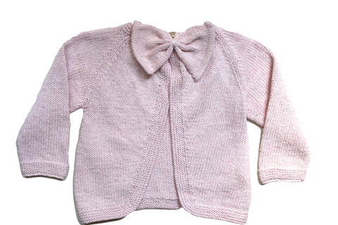 Poppet Bow Back Jacket Light Pink