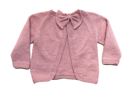 Poppet Bow Back Jacket Mid Pink