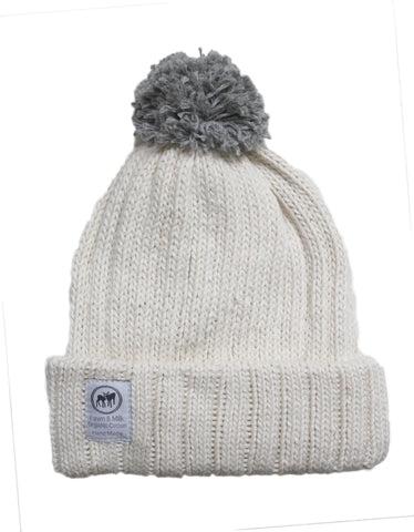 Where's Wolly Beanie Grey/Cream