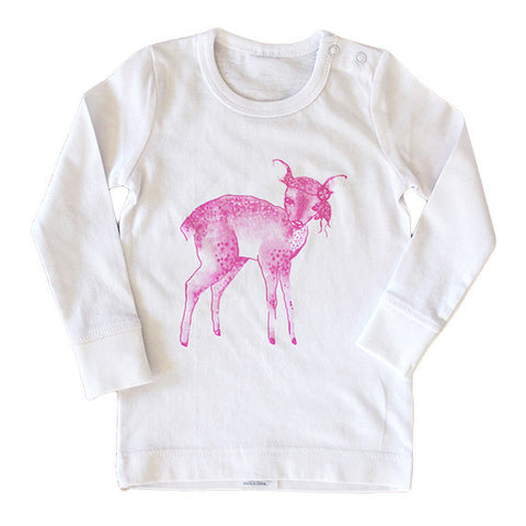 Dakota Deer Long Sleeved Top White