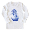 Brocky Bear Long Sleeved Top White