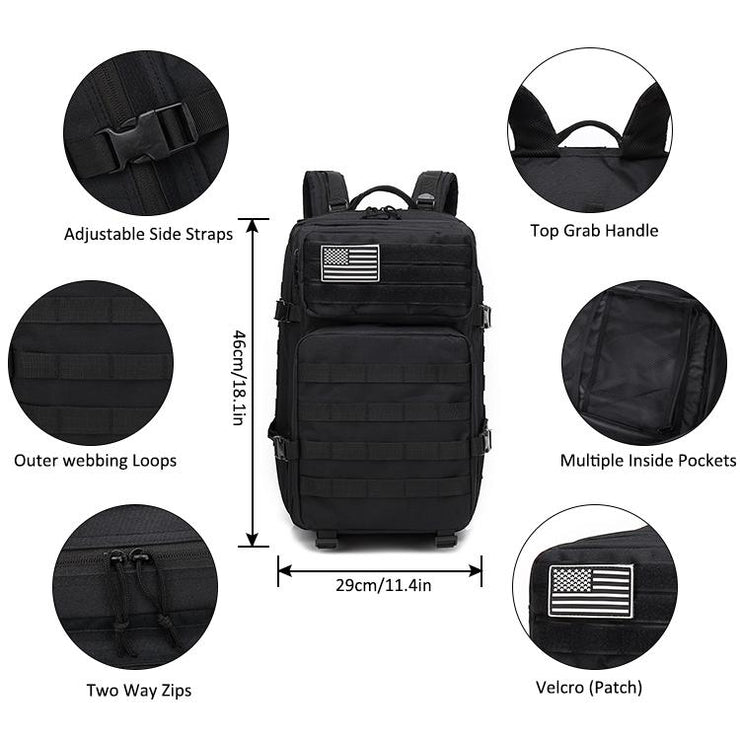 Grey Tactical Backpack