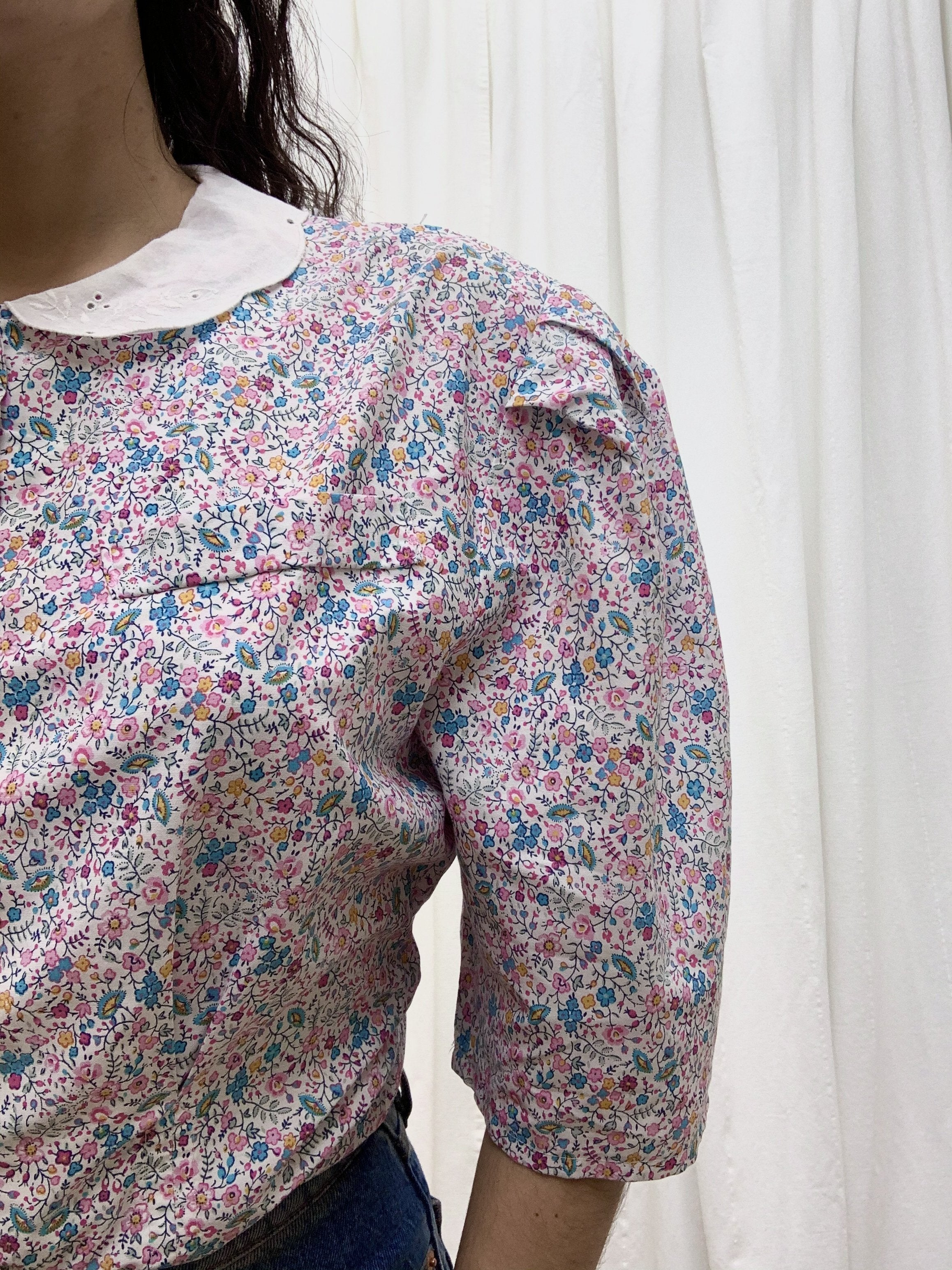 Suit of Lights Floral Puff Sleeve Colored Blouse 5