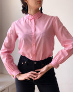 Suit of Lights Vintage Cotton Shirt With Embroidered Ruffle Collar 1