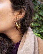 Suit of Lights Vintage Brass Crescent Earrings 2