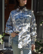 Suit of Lights Vintage Silk Blouse With Transluscent Sewn Sequins  4