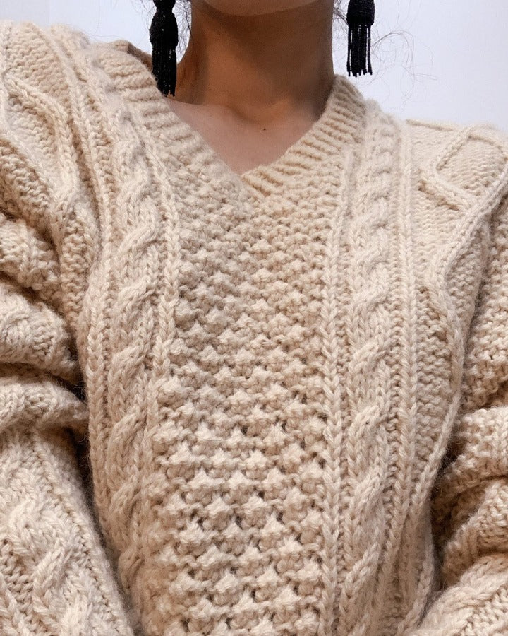 Suit of Lights Vintage Chunky Knit Wool Sweater Image 2