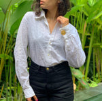 Suit of Lights Vintage Custom Eyelet Blouse with Cufflink Sleeves Image 1