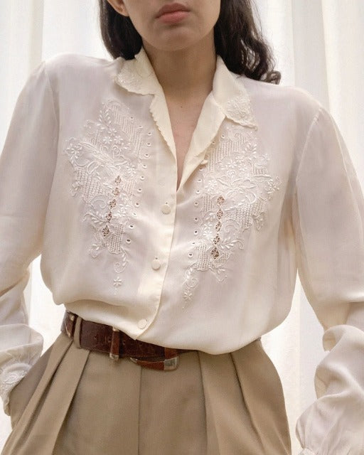 Suit of Lights Vintage Silk Embroidered Blouse 2