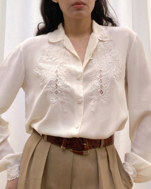 Suit of Lights Vintage Silk Embroidered Blouse 1
