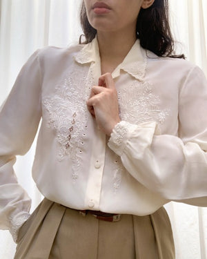 Suit of Lights Vintage Silk Embroidered Blouse 3