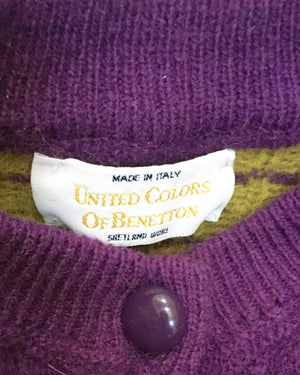 Suit of Lights Vintage United Colors Of Benetton Knit Cardigan 3