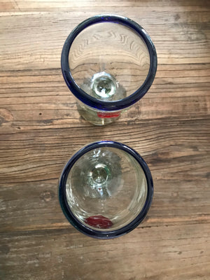 Vintage Set Of Mexican Artisanal Glasses