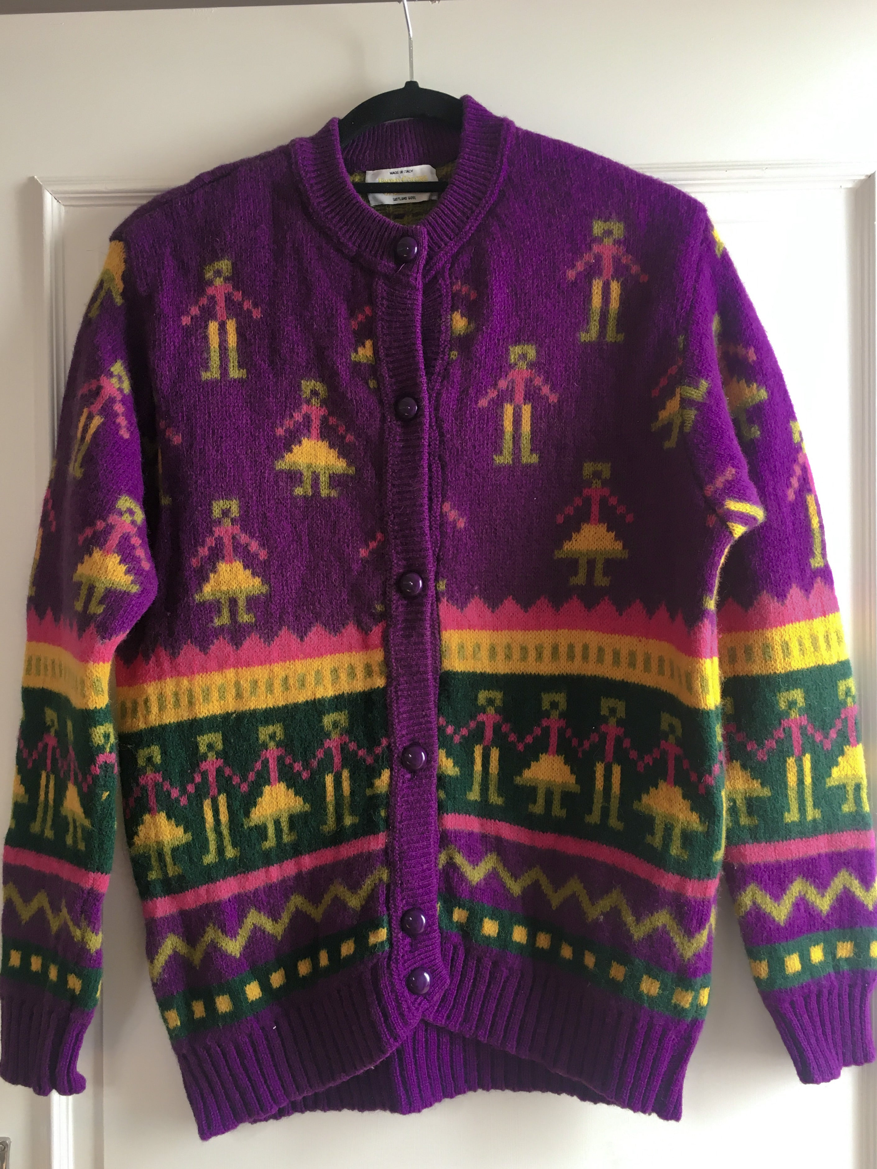 Vintage United Colors Of Benetton Knit Cardigan