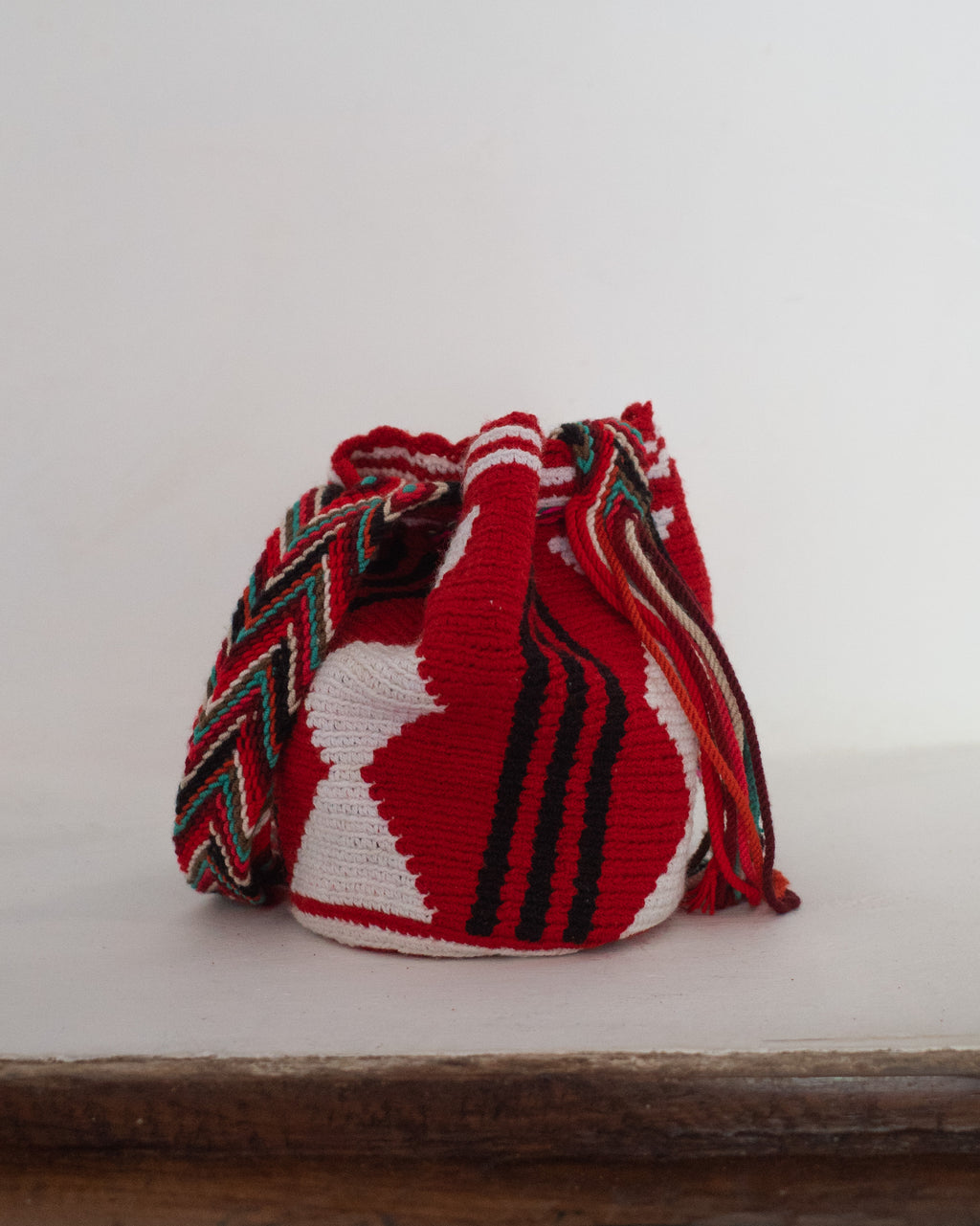 Mini Vintage Colombian Mochila Bucket Shoulder Bag
