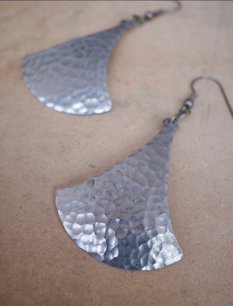 Vintage Chilean Silver Pendant Earrings