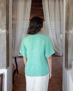 Suit of Lights Vintage Green Blouse 2