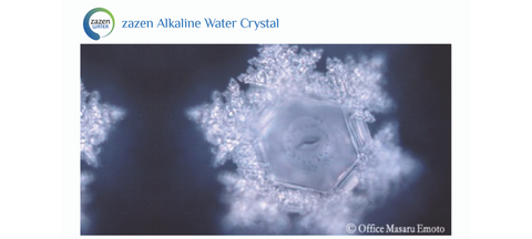 Dr Emoto photo of the zazen Alkaline Water crystal