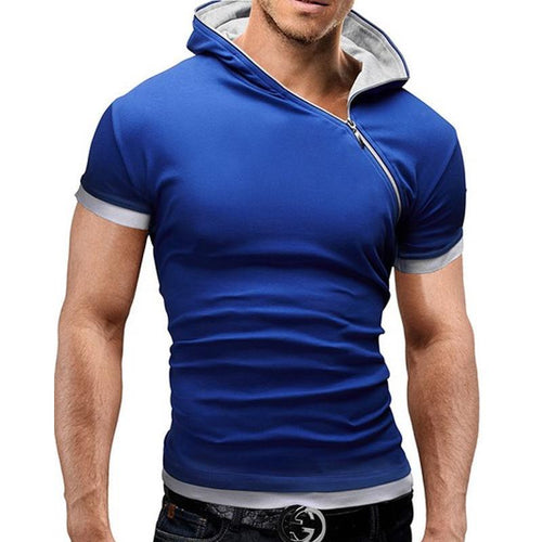 Men's Fashion Short Sleeve Hoodie