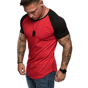 Men's Fashion Slim Raglan Sleeve T-Shirt