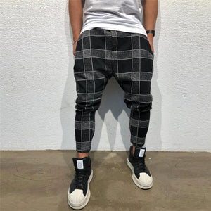 2019 Checked Printed Slim Pencil Pants