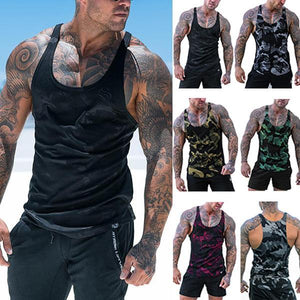 Sports Fashion Quick-Drying Camouflage Beach Tank