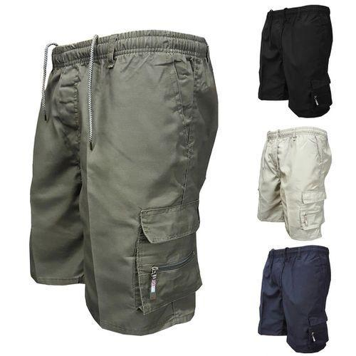 2019 Men Multi Pocket Military Cargo Shorts Casual Cotton Loose Knee Length Army Tactical Shorts Homme Summer Male Sweatpants