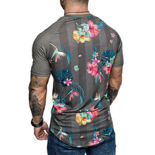 Load image into Gallery viewer, Men's Fashion Floral Print Raglan Sleeve T-Shirt