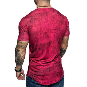 Men's Fashion Tie-Dyed Short-Sleeved T-Shirt