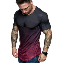 Load image into Gallery viewer, Men's Fashion Gradient Color Short-Sleeved T-Shirt