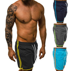 Fitness Fashion Colorblock Stripe Training Shorts