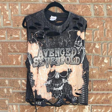 Load image into Gallery viewer, Street Round Neck Broken Hole Printed Vest