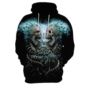 Fashion Men's Casual Printed Long-Sleeved Hooded Sweaters