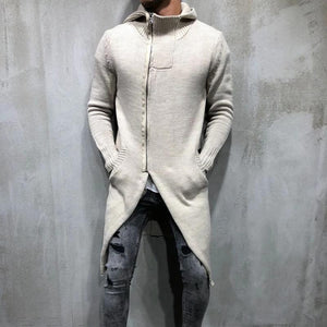 Fashion Men's Long Hooded Sweaters