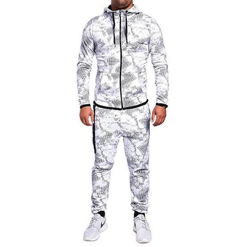Men's Print Hooded Top And Trousers tracksuits
