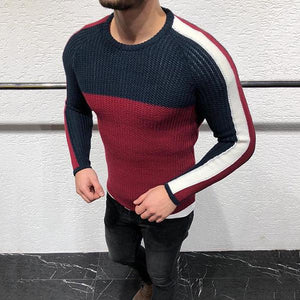 Autumn/Winter Men's Round Collar Long-Sleeved Knitted Sweaters