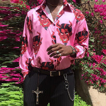 Load image into Gallery viewer, Individuality Fashion Devil Printed Lapel Shirt